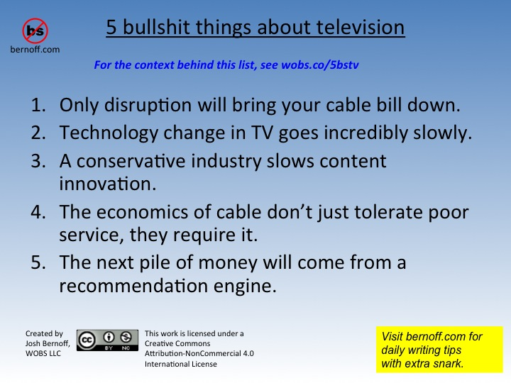 5 bullshit things television